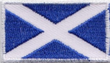 Scotland Saltire Tiny Rectangular Embroidered Badge (a436)